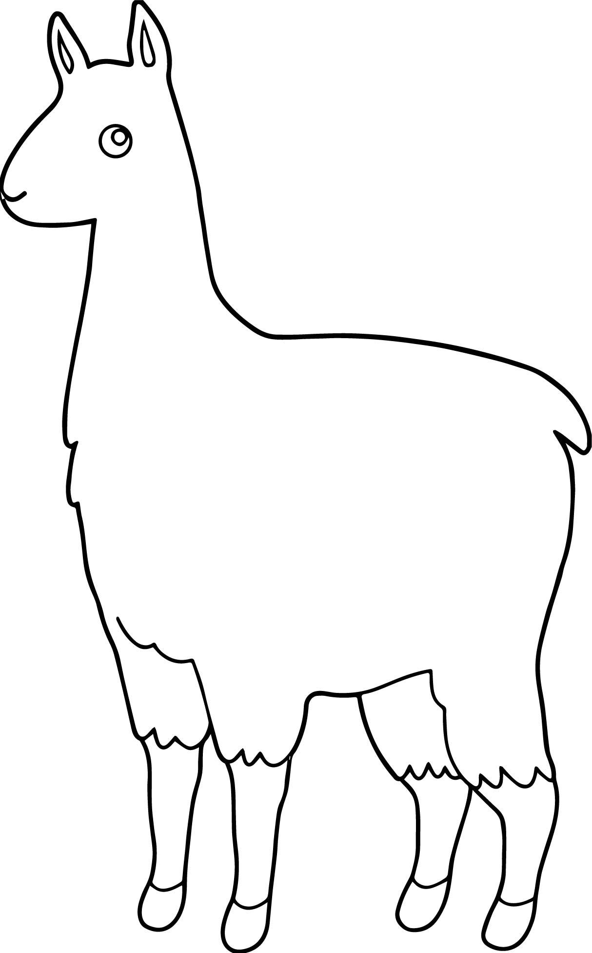 Alpaca Printable Template