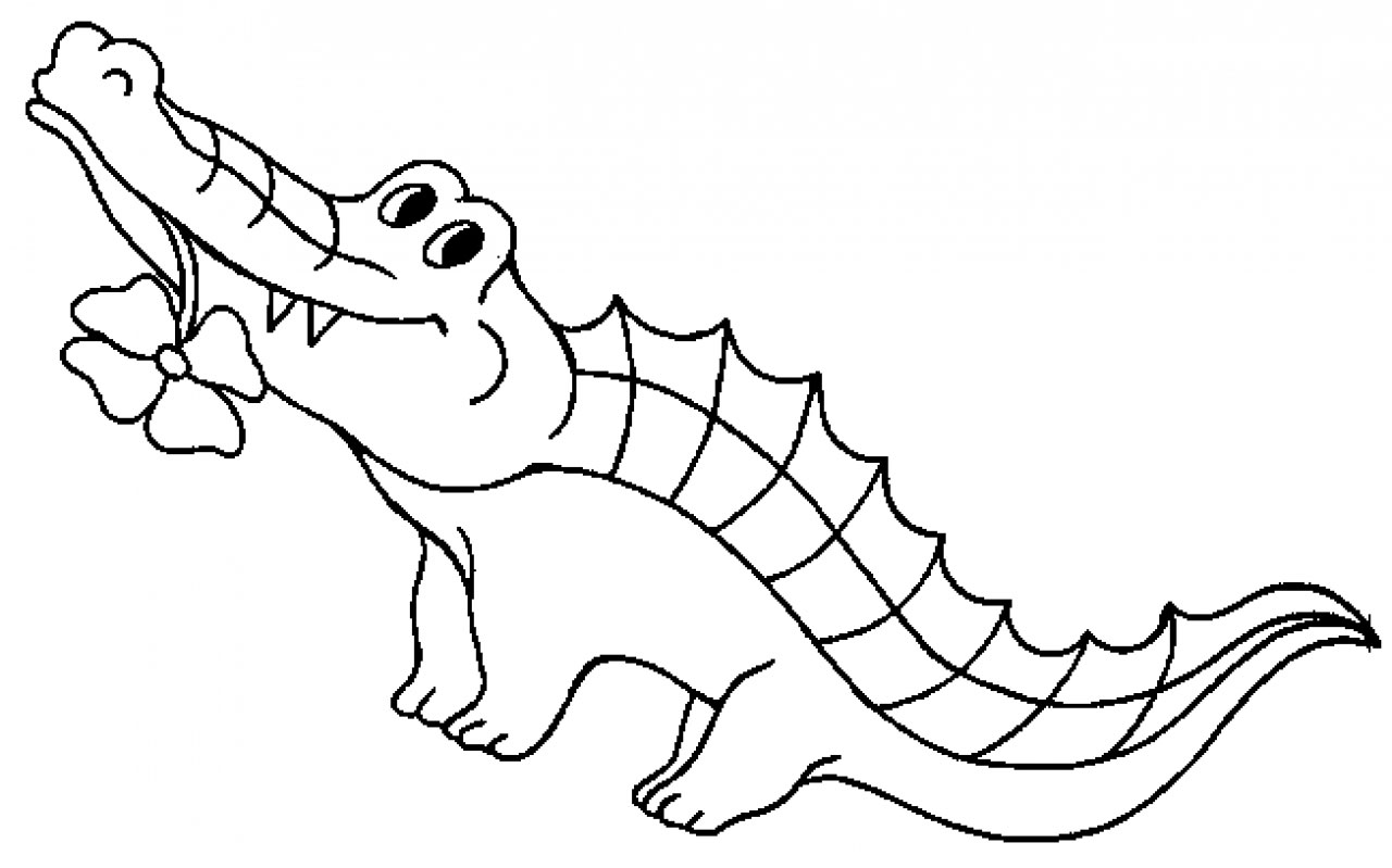 Baby Alligators Coloring Pages