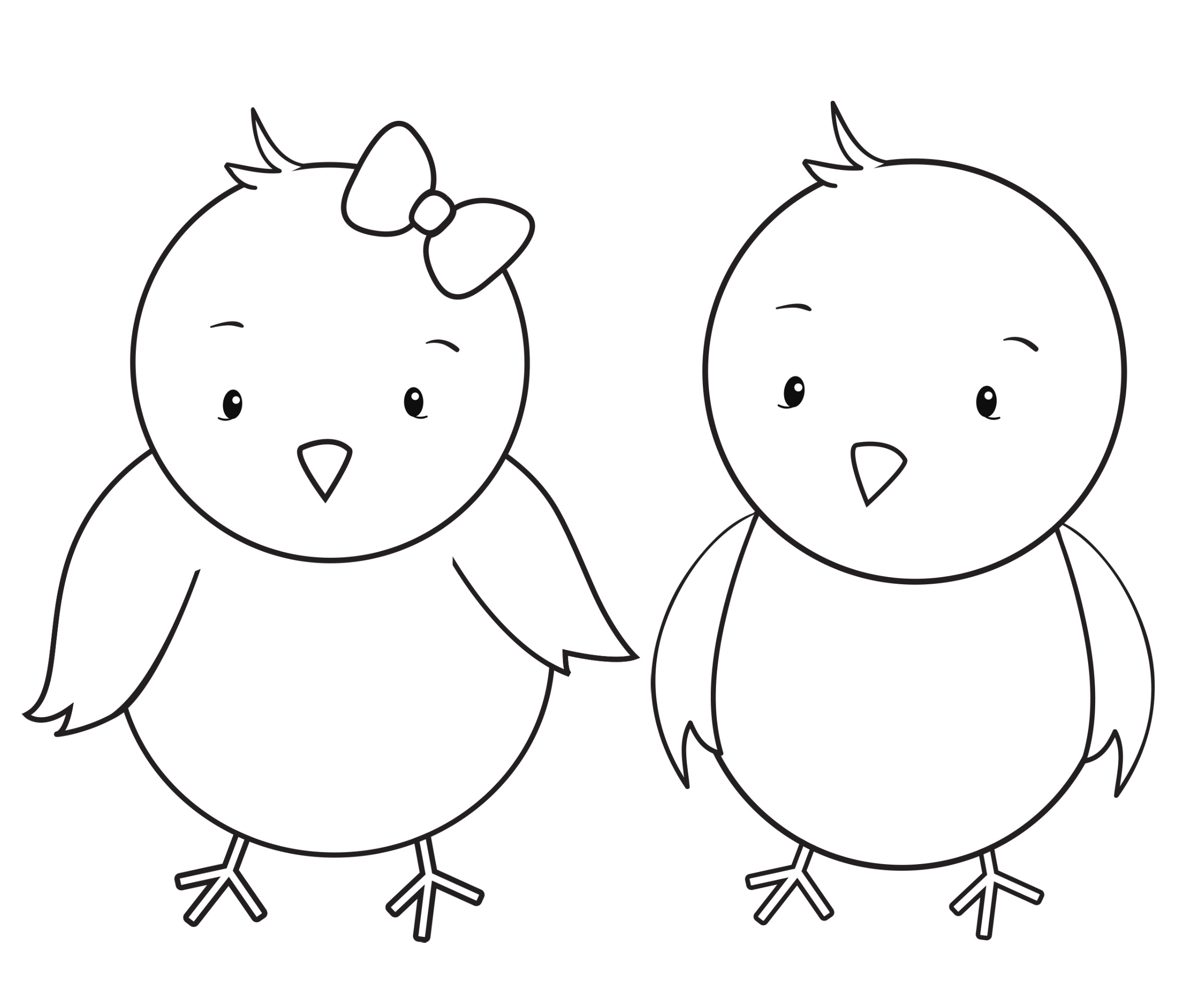 Chicks Coloring Pages for Adults