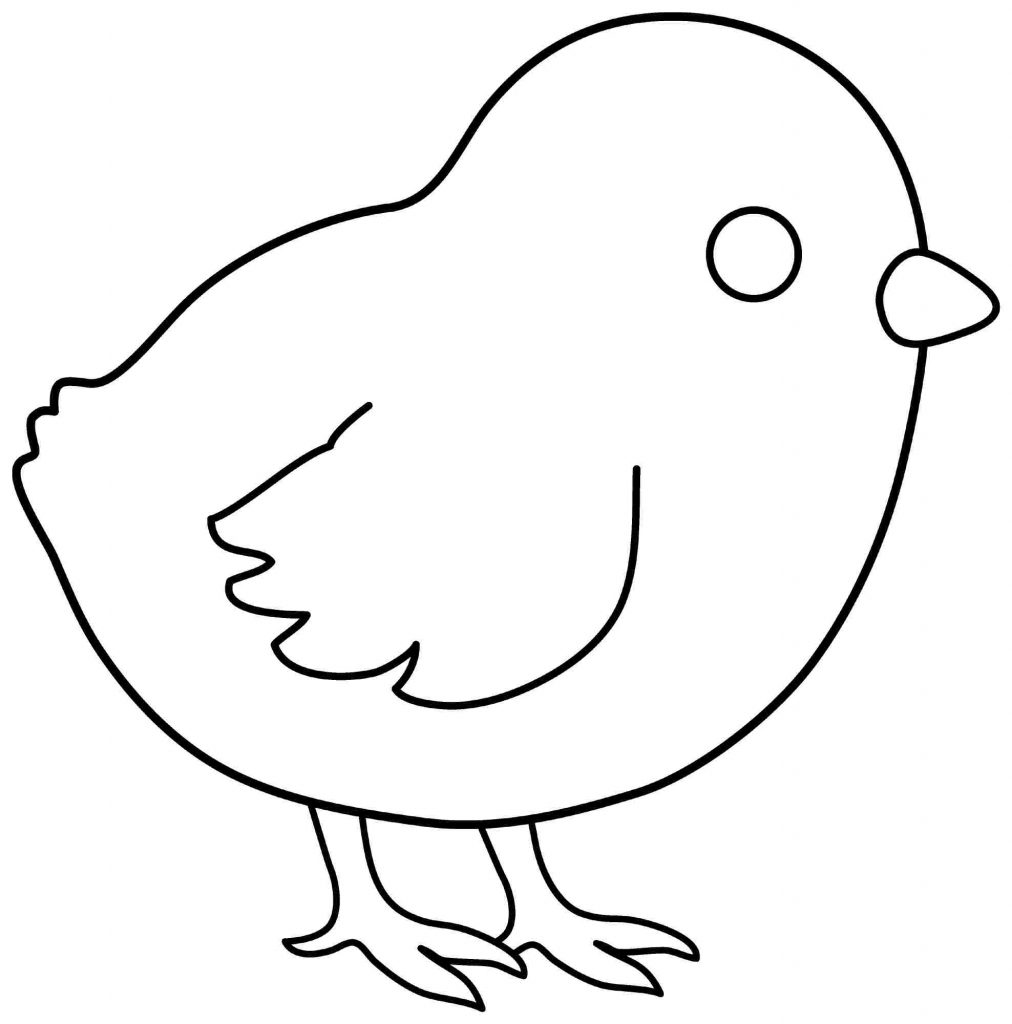 Chicks Face Coloring Pages