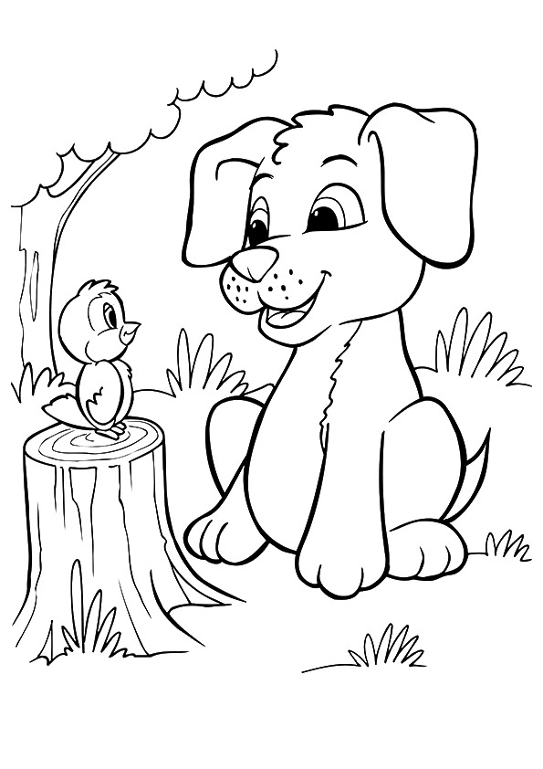 Cute Coloring Pages of Puppies