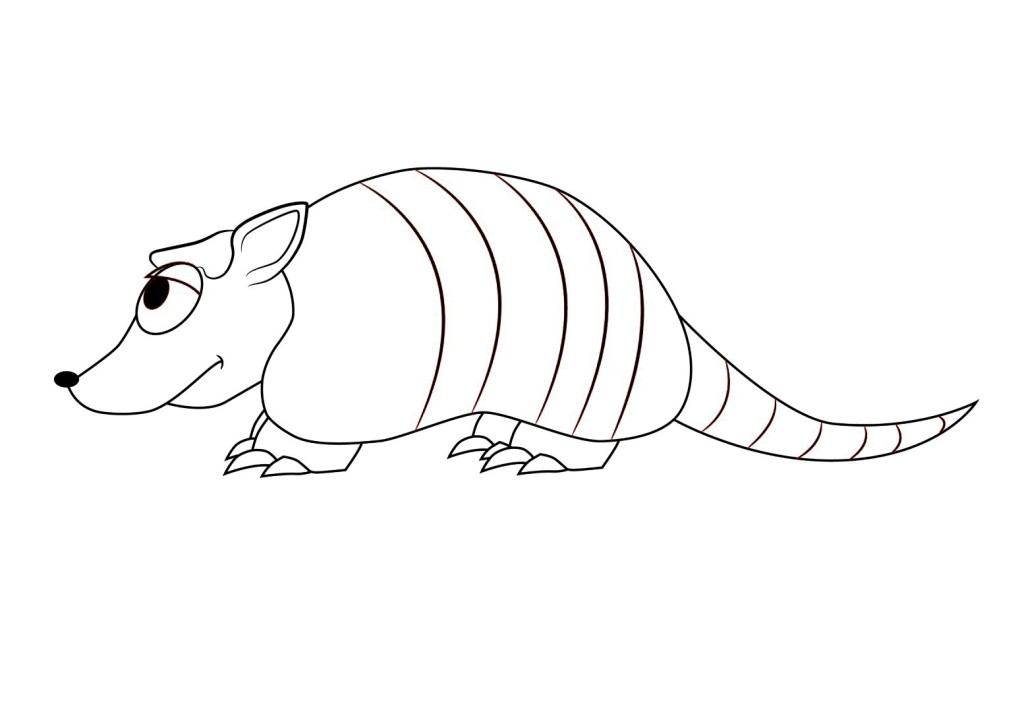 Free Printable Pictures of Armadillo