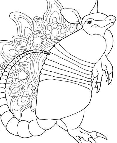 Printable Armadillo Pictures